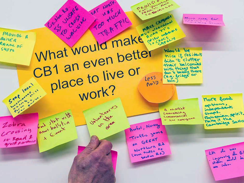 We work with stakeholders on the CB1 Estate in Cambridge both in the initial facilitation of workshops for stakeholders and now in continuing community engagement work on the mixed use estate.